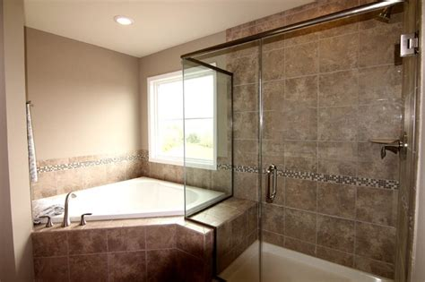 Garden Tub With Shower by Master Bathroom With Frameless Shower And Garden Tub Traditional Bathroom Other By