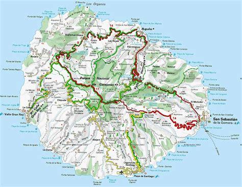 printable road map fuerteventura la gomera map