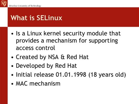 selinux tutorial introduction to linux kernel security wroclaw 3 selinux 101