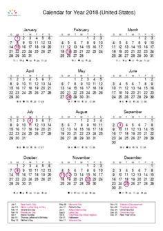 2018 Calendar United States Pin By Printable Free On 2018 Yearly Calendar