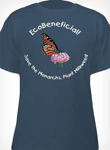 Monarch T Shirt blue monarch butterfly t shirt ecobeneficial