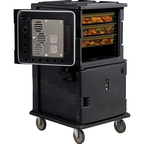 Warming Cabinets Food Cambro Black H Series Large 2 Compartment Electric
