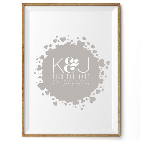 Wedding Prints by Bomb Personalised Wedding Print By Rock The Custard