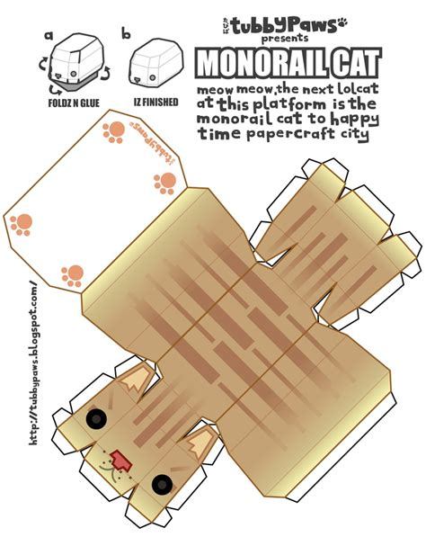 Papercraft Cat - monorail cat papercraft cats do what and