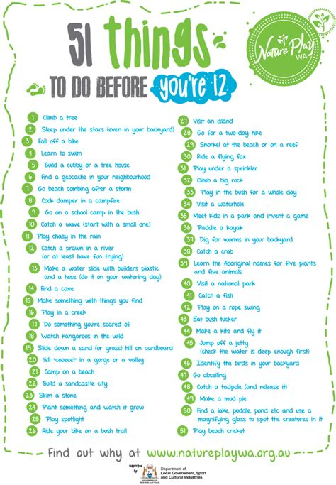 8 Things To Do When Youre In The Elevator by 51 Things To Do Before You Re 12 Outdoor Classroom Day