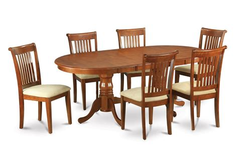 Oval Dining Room Table Set With Leaf 9pc Oval Dining Room Set With Self Storage Leaf Table 8
