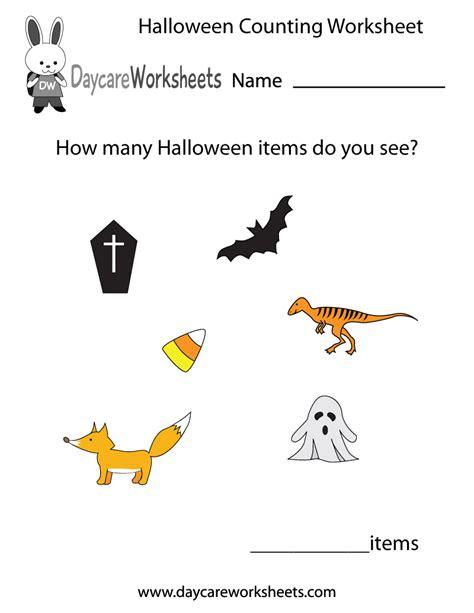 free printable preschool worksheets halloween free printable halloween counting worksheet for preschool