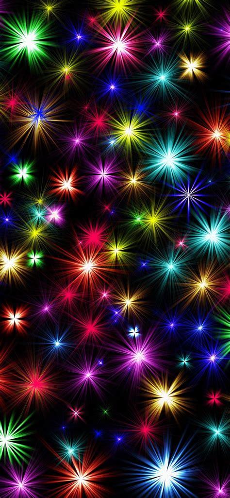 fondos de pantalla estrellas de colores brillo fondo negro  uhd  imagen