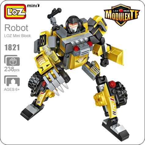 Mini Block Block Loz Scorpio Loz Ideas Robot Car Transformation Truck Toys Excavator
