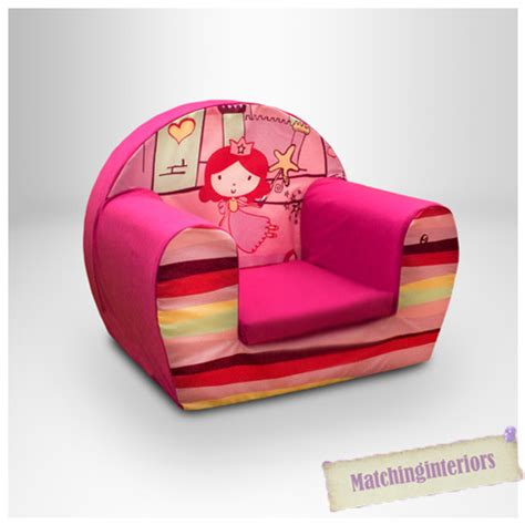 toddler armchair princess castle pink kids childrens comfy foam chair