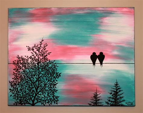 acrylic painting birds in sky original abstract acrylic painting canvas time stands