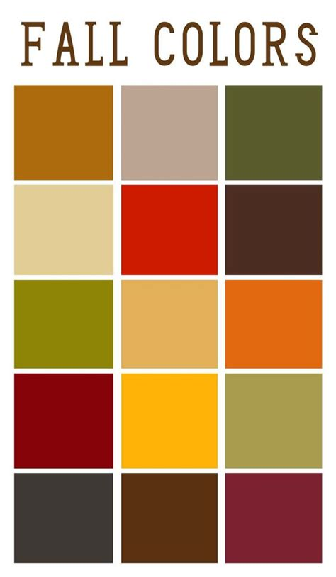 autumn color palette fall color palette my two wedding colours on here