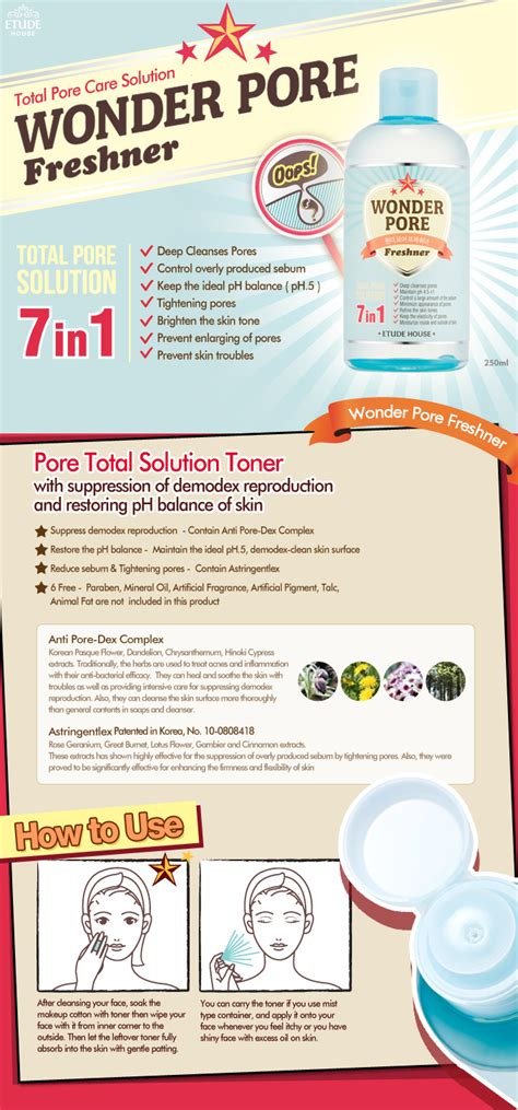Toner Pore Etude etude house pore freshner 250ml