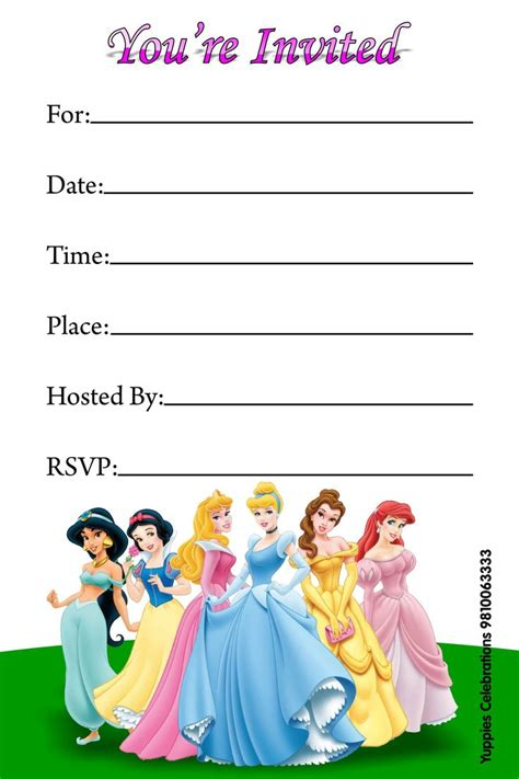 disney princess invitations free printable invitations see more ideas about
