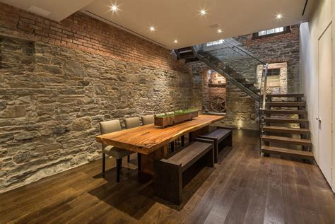 dining room tables nyc dining room stone brick walls dining table converted