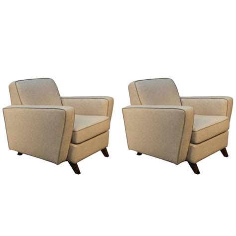 Upholstered Club Chairs Sale Design Ideas Pair Of Mid Century Modern Newly Upholstered Club Chairs For Sale At 1stdibs