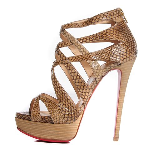 Christian Louboutin Python Platform With Ruffle Detail by Christian Louboutin Python Balota 150 Platform Sandals 38