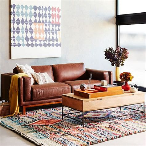 elm sydney sofa 25 best ideas about brown leather sofas on