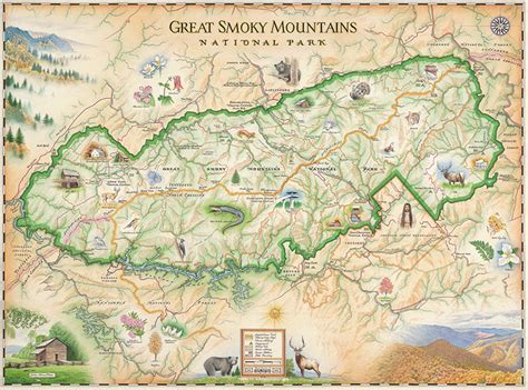 Great Smoky Mountain National Park Map   Xplorer Maps