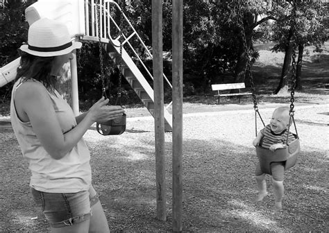 swinging for the first time how we celebrated will s first birthday loving here
