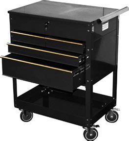 professional 4 drawer service cart black at national tool