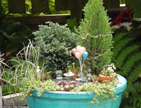 tiny gardens horticulturalist janit calvio creates garden scenes that