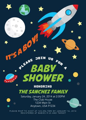 Space Baby Shower Invitations by Pretty In Prints 187 Prettyinprints 187 An Out Of This