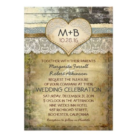 Wedding Invitation Zazzle by Country Rustic Wedding Invitations 5 Quot X 7 Quot Invitation Card