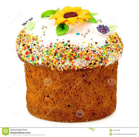 kuchen ostern easter cake decorated with flowers royalty free stock