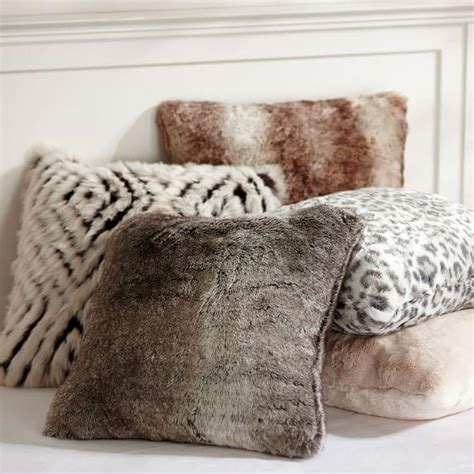 faux fur decorative pillows faux fur various colors pillow cover