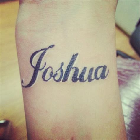my sons name tattoo wrist name joshua my tattoos