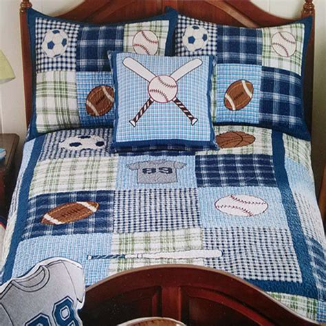 Bedroom Quilt Patterns Boys Sports Quilt