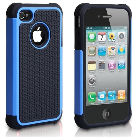 for iphone 4 4s black rugged rubber matte hard case