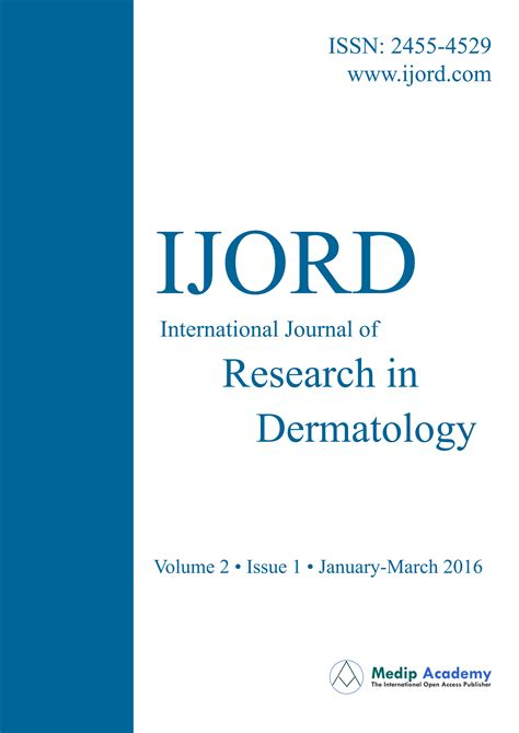 Research Letter Journal Of Dermatology International Journal Of Research In Dermatology