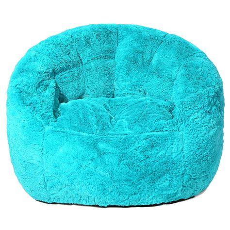 Price Of Bean Bag Chairs by Faux Fur Bean Bag Chair Teal Ebay