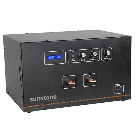 dual pulse capacitive discharge welder dual pulse cd welders high power sunstone welders