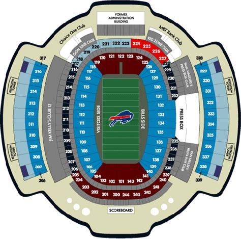 ralph wilson stadium seating chart ralph wilson stadium ralph wilson stadium seating chart