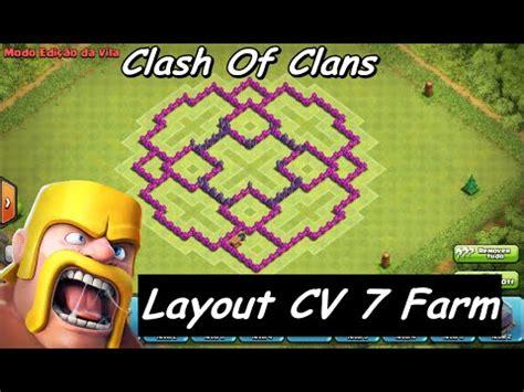Layout Cv 7 Farming Youtube | clash of clans layout cv 7 farm youtube