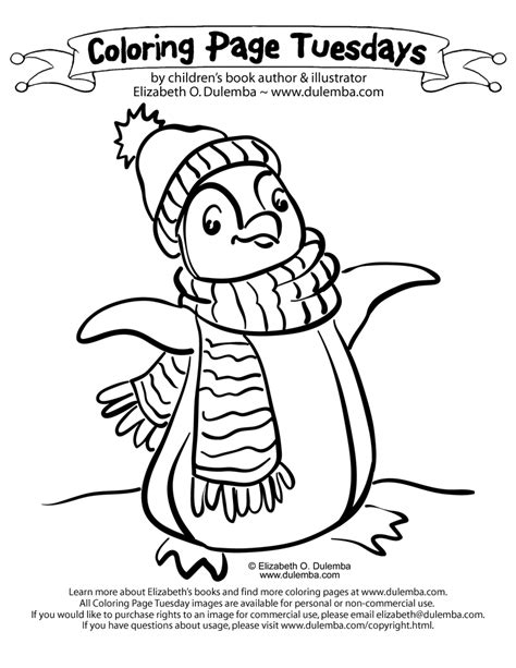 penguin coloring pages dulemba coloring page tuesday penguin