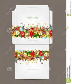 envelope template floral design stock photo image 33339830
