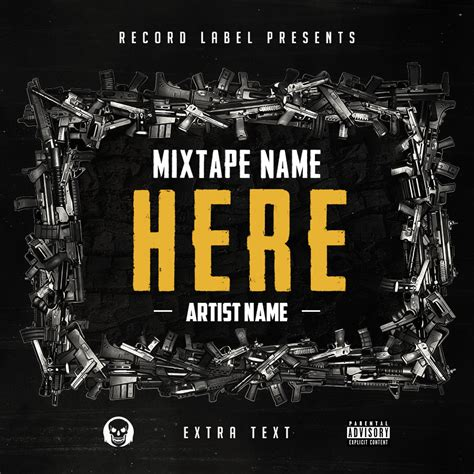 mixtape cover template free hip hop mixtape cover v6 psd by shiftz on deviantart