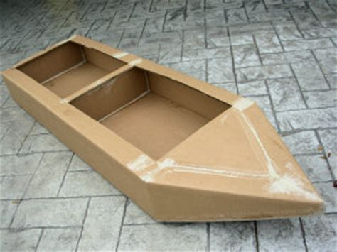 How To Make House Boat With Paper - easy cardboard boat plans sailing build plan