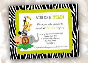 jungle themed baby shower invitations gangcraft net