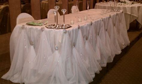 8 ft rhinestone cinderella table skirting