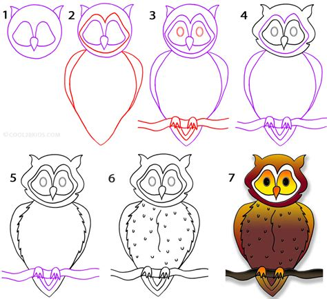 how to your step by step how to draw an owl step by step pictures cool2bkids