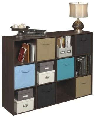Closetmaid Storage Units Closetmaid Cubeicals 12 Cube Organizer Espresso