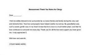10 bereavement thank you notes free sle exle