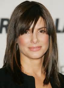 medium length straight hairstyles no bangs collections