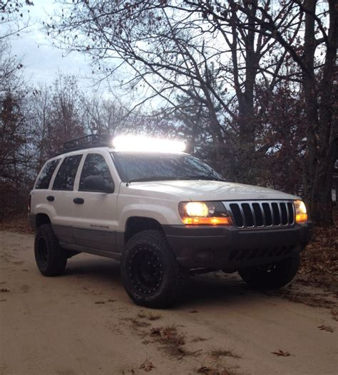 jeep grand light bar jeep grand 2 inch lift with 40 quot led light bar
