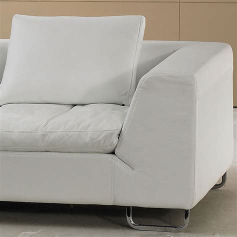 pillow top sofa white leather sectional sofa with pillow top design model